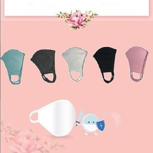 😷 Set of 5 Washable Antibacterial Face Mask